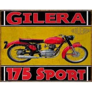 Gilera 175 Sport1956  classic motorcycle  vintage garage advertising plaque metal tin sign poster
