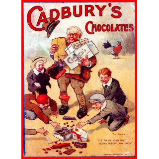 Cadburys Chocolat metal tin sign poster wall plaque