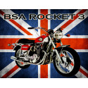 Bsa Rocket 3 motorcycle vintage metal tin sign poster wall plaque