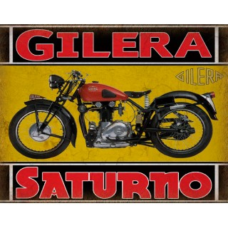 Gilera Saturno 1951  classic motorcycle  vintage garage advertising plaque metal tin sign poster