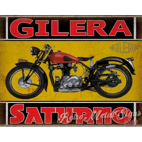 Gilera motorcycles service  vintage garage advertising plaque metal tin sign poster