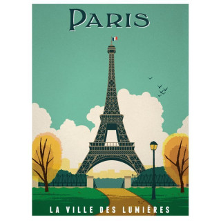 Paris  vintage travel metal tin sign poster