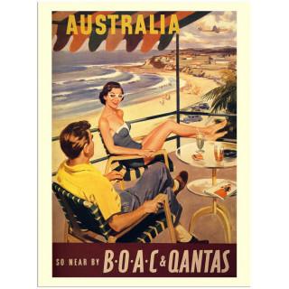 Australia vintage travel metal tin sign poster