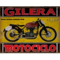 Gilera Saturno San Remo 1949  classic motorcycle  vintage garage advertising plaque metal tin sign poster