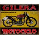 Gilera Saturno San Remo 1949  classic motorcycle  vintage garage advertising plaque metal tin sign poster
