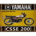 Yamaha CS5E 200 1972 motorcycle vintage metal tin sign poster wall plaque