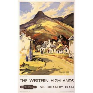 The Western Highlands British Railways   vintage travel metal tin sign