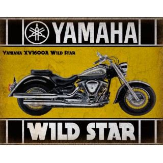 Yamaha XV1600A Wild Star motorcycle vintage metal tin sign poster wall plaque