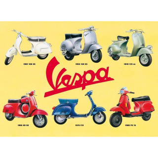 Vespa metal sign  vintage metal tin sign wall plaque