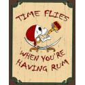 Time Flies When You're Having Rum Pirate nostalgic metal tin sign poster