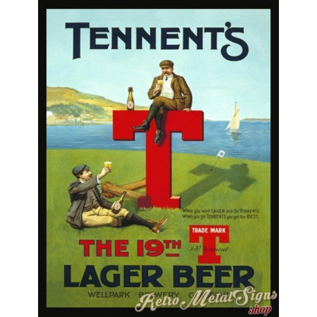 Tennent's Beer  vintage metal tin sign wall plaque