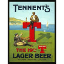 Tennent's Beer vintage pub bar metal tin sign wall plaque