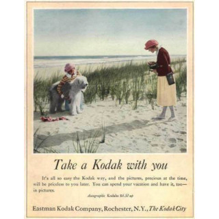 Take a Kodak with you  vintage advertisement  metal tin sign poster