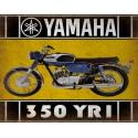 Yamaha 350 YR1 1967 motorcycle vintage metal tin sign poster wall plaque
