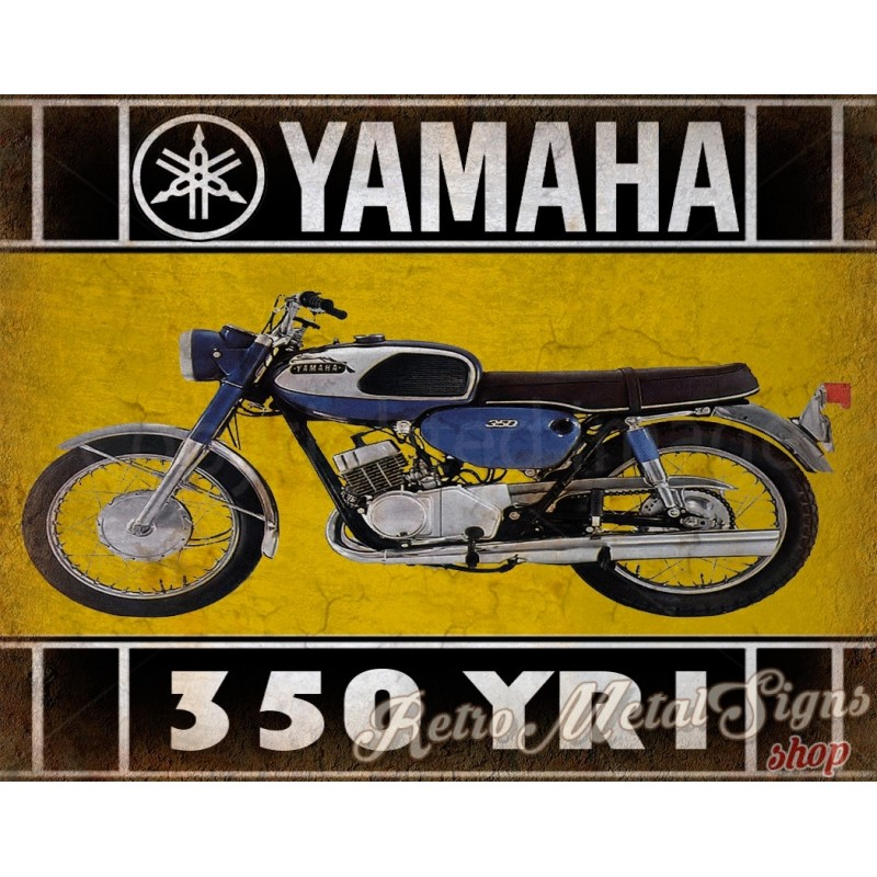 Yamaha YR Motorcycle Vintage Metal Tin Sign Poster Wall - Bmw motorcycle tin signs