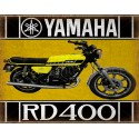 Yamaha rd 400 motorcycle vintage metal tin sign poster wall plaque