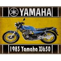 1983 Yamaha XJ650 motorcycle vintage metal tin sign poster wall plaque
