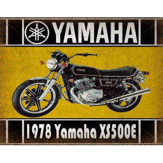 1978 Yamaha XS500E  motorcycle vintage metal tin sign poster wall plaque