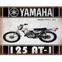 Yamaha 125 AT1 1971  motorcycle vintage metal tin sign poster wall plaque