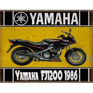 Yamaha-FJ1200-1986-metal-tin-sign