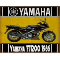 Yamaha FJ1200 1986   motorcycle vintage metal tin sign poster wall plaque