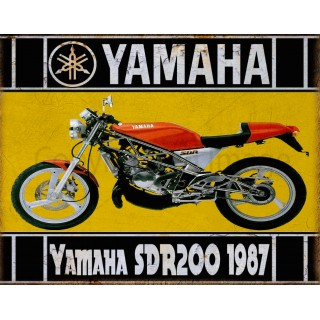 Yamaha SDR200 1987 motorcycle vintage metal tin sign poster wall plaque