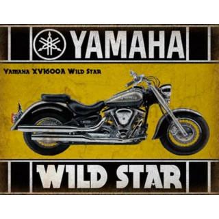 Yamaha XV1600A Wild Star  CLASSIC MOTORCYCLE ADVERTISING PLAQUE METAL TIN SIGN