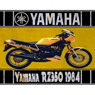 yamaha-rz350-1984-vintage-tin-metl-sign
