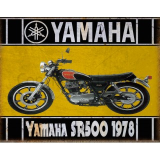 yamaha-sr500-1978-motorcycle-metal-tin-sign