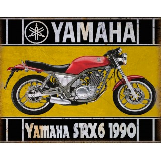 yamaha-srx6-1990-motorcycle-tin-metal-sign