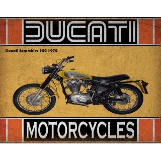 Ducati Scrambler 350 1970  motorcycle vintage metal tin sign poster wall plaque