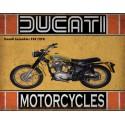 Ducati Scrambler 350 1970  motorcycle vintage metal tin sign poster wall plaque