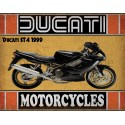 Ducati ST4 1999  motorcycle vintage metal tin sign poster wall plaque