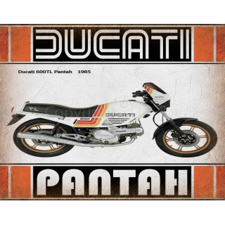 Ducati 600TL Pantah 1985 motorcycle vintage metal tin sign poster wall plaque