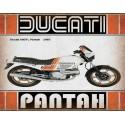 Ducati 600TL Pantah 1985 motorcycle vintage metal tin sign poster wall plaque
