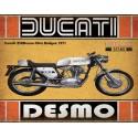 Ducati 450 Desmo Silver Shotgun 1971  motorcycle vintage metal tin sign poster wall plaque
