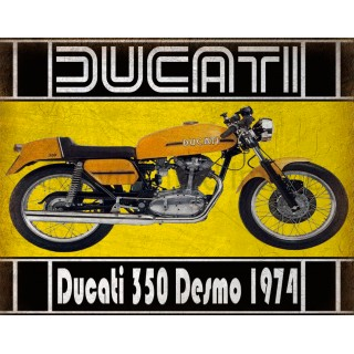 Ducati 350 Desmo 1974  motorcycle vintage metal tin sign poster wall plaque