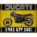 Ducati GTV 500 motorcycle vintage metal tin sign poster wall plaque