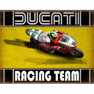 Ducati Racing Team motorcycle vintage metal tin sign poster wall plaque