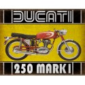 Ducati 250 mark 1 motorcycle vintage metal tin sign poster wall plaque