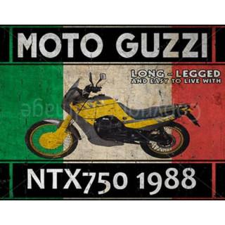 Moto Guzzi NTX750 1988  motorcycle vintage metal tin sign poster