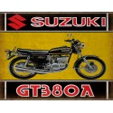 Suzuki GT380A motorcycle vintage metal tin sign poster wall plaque
