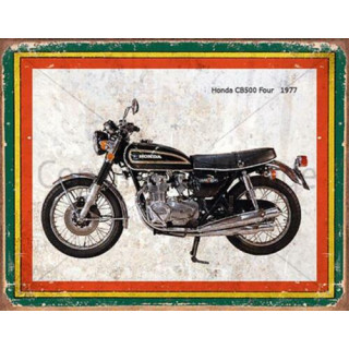 Honda CB500 Four 1977  motorcycle advertising plaque metal tin sign poster