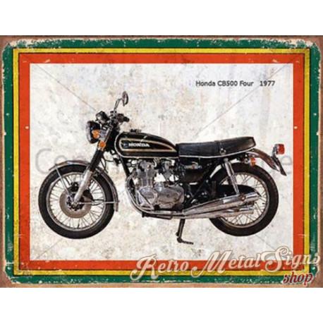 Honda CB500 Four 1977  motorcycle plaque metal tin sign poster