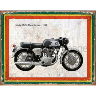 Honda CB450 Black Bomber 1966   vintage garage  plaque metal tin sign poster