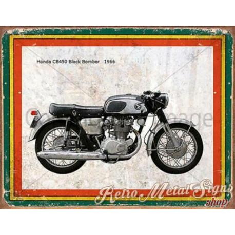 Honda CB450 Black Bomber 1966  garage  plaque metal tin sign