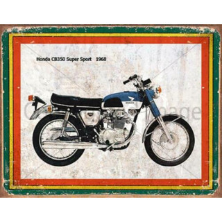 Honda CB350 Super Sport 1968   vintage garage  plaque metal tin sign poster