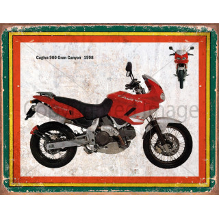 Cagiva 900 Gran Canyon 1998   vintage garage  plaque metal tin sign poster