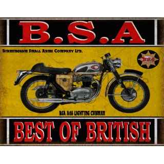 BSA A65 Lighting Clubman motorcycle vintage metal tin sign poster wall plaque