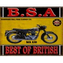 BSA A10 motorcycle vintage metal tin sign poster wall plaque